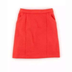 Boden - Sixties straight mini skirt coral pocket